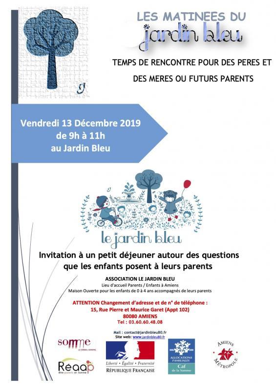 Matinee du jardin bleu 13 decembre 2019
